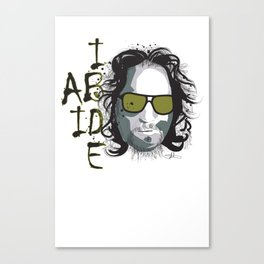 The Dude - Big Lebowski INK Canvas Print