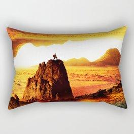 Lava Isolation Rectangular Pillow