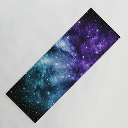 Purple Teal Galaxy Nebula Dream #1 #decor #art #society6 Yoga Mat