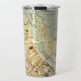 Vintage Map of Savannah Georgia (1942) Travel Mug