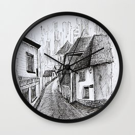 Architecture Sketch, Germany Wall Clock