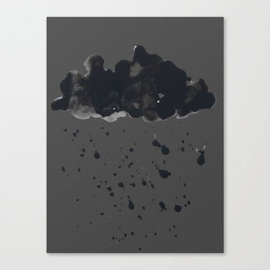 Stormy Black Clouds Version 2 For Earth Day Canvas Print