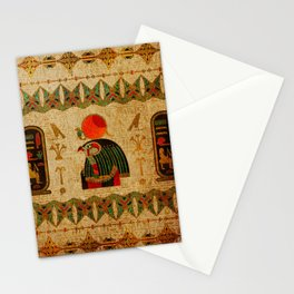 Egyptian Horus Ornament on Papyrus Stationery Cards