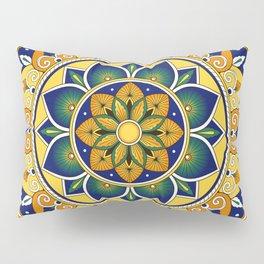 Italian Tile Pattern – Peacock motifs majolica from Deruta Pillow Sham