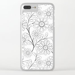 Floral pattern on a white background. Clear iPhone Case