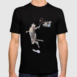 Cat Playing Tennis T-shirt