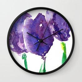 flower X Wall Clock