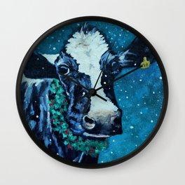 Holiday Holstein Wall Clock