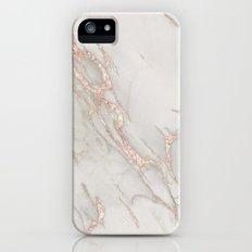 Marble Rose Gold Blush Pink Metallic by Nature Magick iPhone SE Slim Case