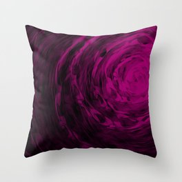 Organic Spiral - Purple Throw Pillow