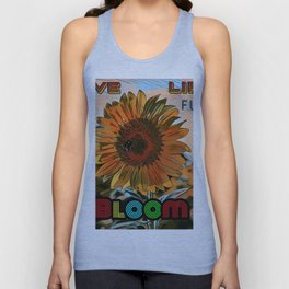 Blooming Sunflower - Life Quote Unisex Tank Top