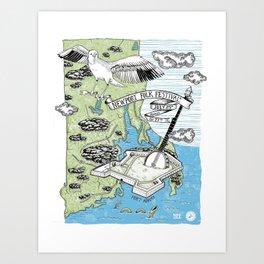 2014 Newport Folk Festival Concert Poster Art Print