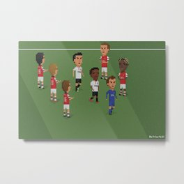 Guard of Honour - Arsenal v Manchester United Metal Print