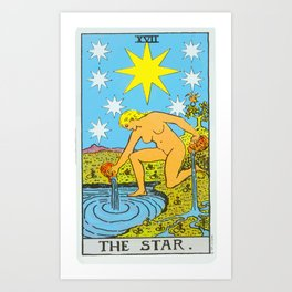17 -The Star Art Print