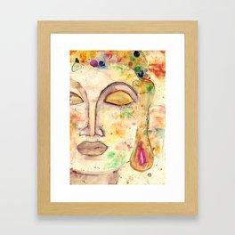 Watercolor Buddha Framed Art Print