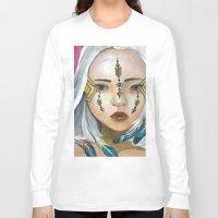 indigo Long Sleeve T-shirts featuring Indigo by Nataliette