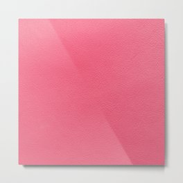 Pink leather texture Metal Print