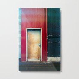 Rusted door Metal Print