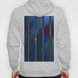 Electric Blue Abstract with Gold Stripes Hoody