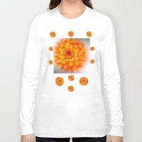 dahlia Long Sleeve T-shirts featuring Dahlia by Art-Motiva
