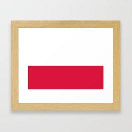 National flag of Poland Framed Art Print