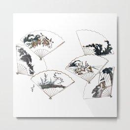 Mutamagawa senmen harimaze Hokusai Katsushika Ukiyo-E Japanese Metal Print