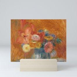 Green Bowl of Flowers Mini Art Print