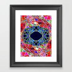 0014blueye Framed Art Print