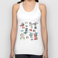 transformer Tank Tops featuring Minibots by confinedclone
