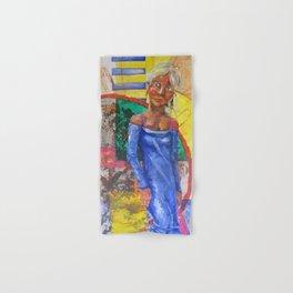 Girl in blue dress Hand & Bath Towel