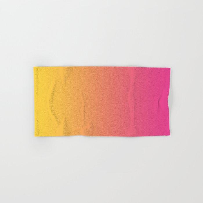 Pink Orange Gradient Hand & Bath Towel