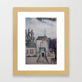 Chateau jacaranda Framed Art Print