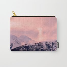 Kenai Mts Bathed in Serenity Rose - II Carry-All Pouch