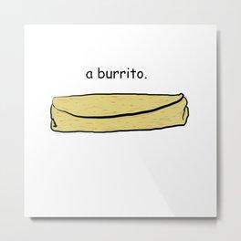 Burrito Metal Print