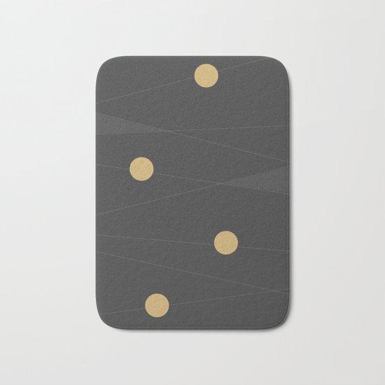 Black and Gold Bath Mat