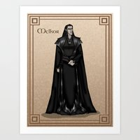 valar morghulis Art Prints featuring Melkor by wolfanita
