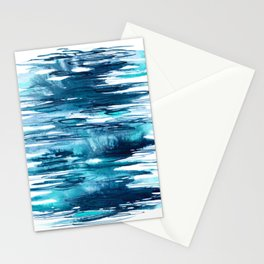 Gentle Surf - Abstract Ocean Watercolor Water Reflections Stationery Cards