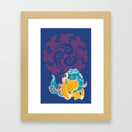 Fish Funny Dog Costume - Sea Collection Framed Art Print