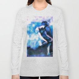 Degas The Dancer Turquoise Teal Dream Long Sleeve T-shirt