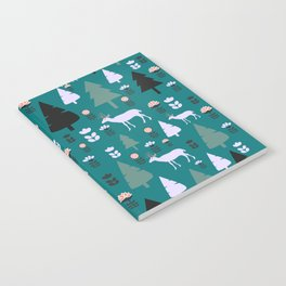 Floral pasture with deer Notebook