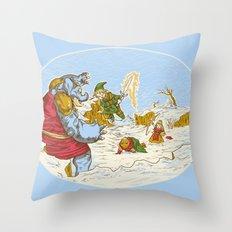 A Chrono to the past Throw Pillow