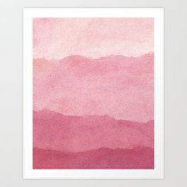 Ombre Waves in Pink Art Print