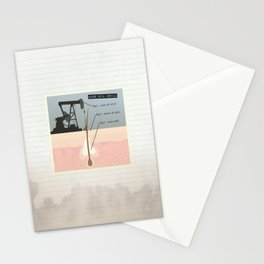 Acne Oil Well  Stationery Cards