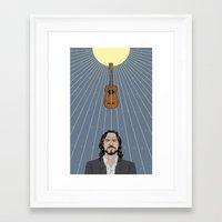 eddie vedder Framed Art Prints featuring Eddie Vedder by olive industries