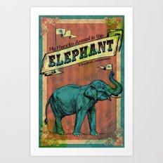 My Favorite Elephant Art Print