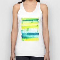 swimming Tank Tops featuring Swimming Upstream by Picomodi