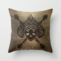 Pirate Skull Throw Pillow