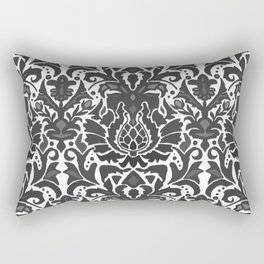Aya damask mono Rectangular Pillow