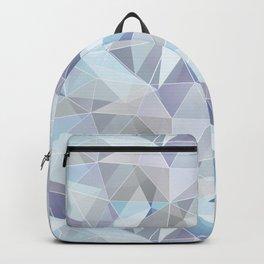Broken glass in blue. Backpack