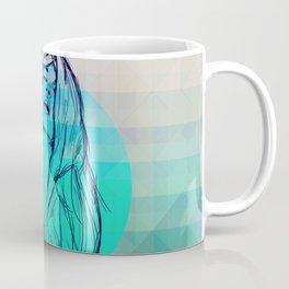 Geometric Sexy Girl Sketch V2 Coffee Mug